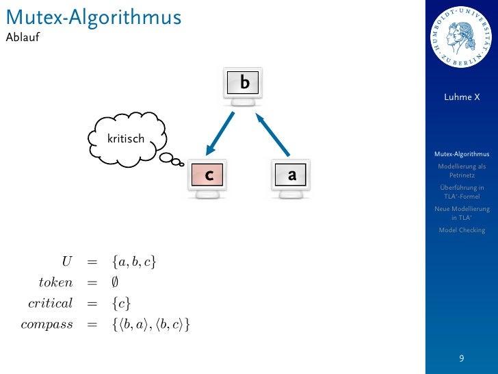 Mutex-AlgorithmusAblauf                        b                                   Luhme X         kritisch               ...