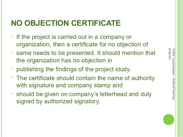 Doc564403 No Objection Format MS Word No Objection – Non Objection Certificate Format