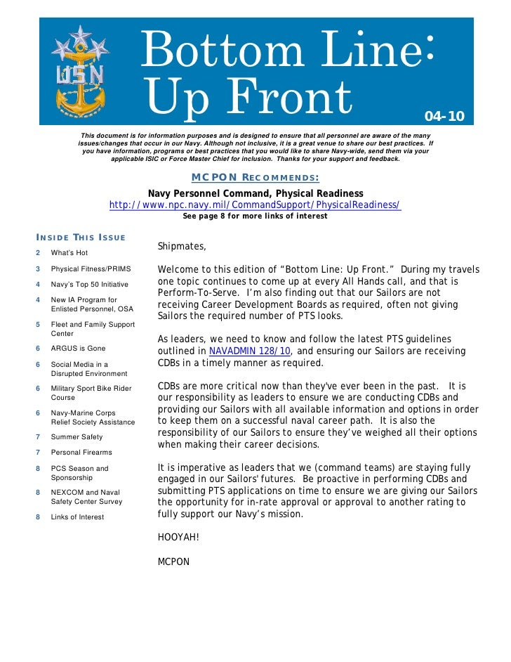 Bottom Line:                                 Up Front                                                                     ...