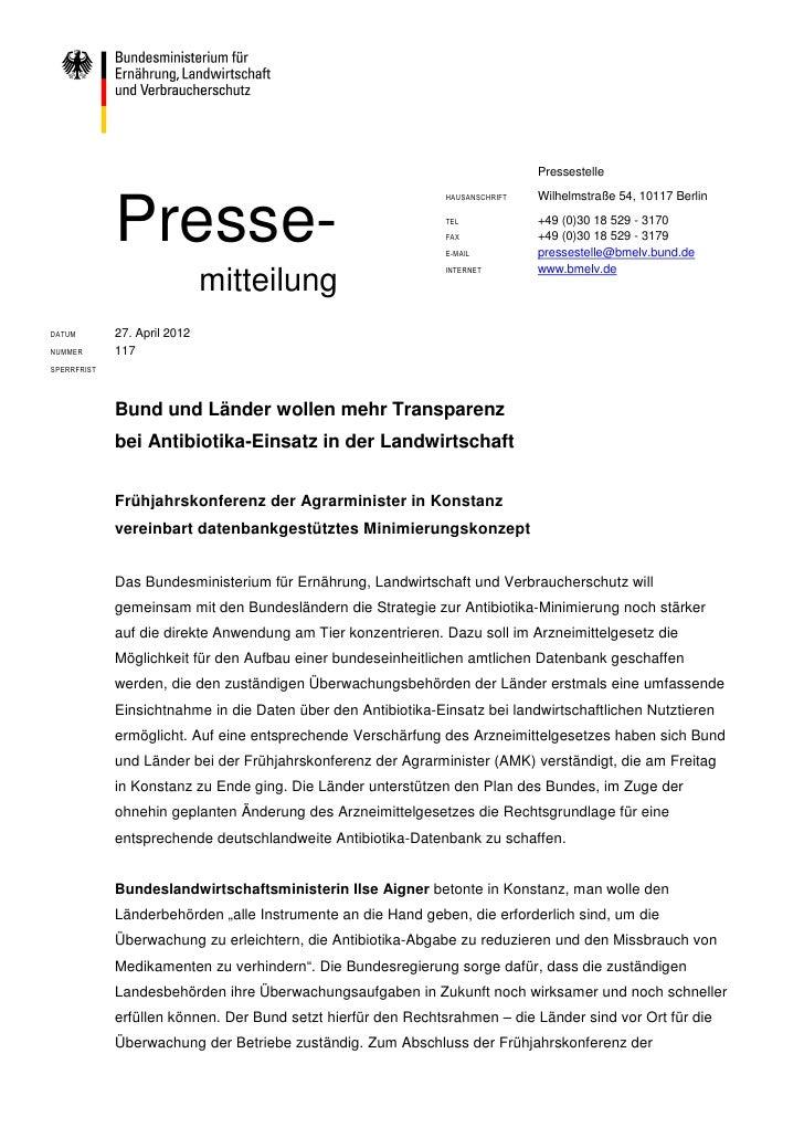 Pressestelle             Presse-                                                               HAUSANSCHRIFT   Wilhelmstra...