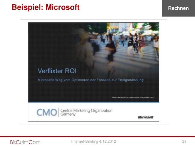 Beispiel: Microsoft                           Rechnen                Internet-Briefing 4.12.2012       28