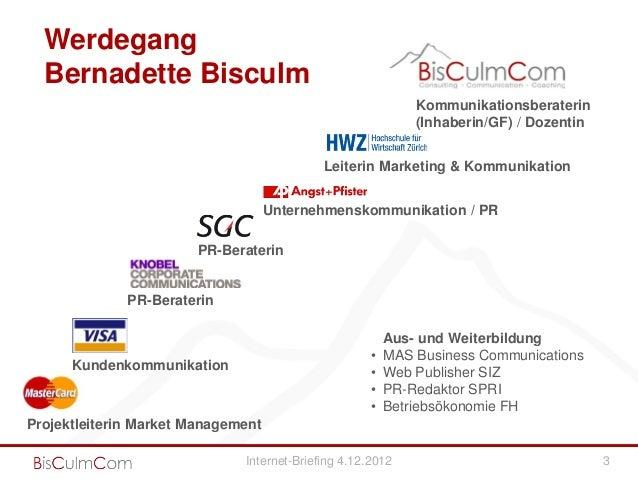 Werdegang  Bernadette Bisculm                                                             Kommunikationsberaterin         ...