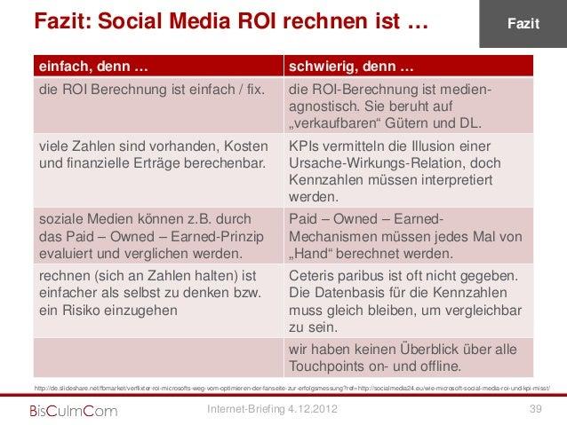 Fazit: Social Media ROI rechnen ist …                                                                                     ...