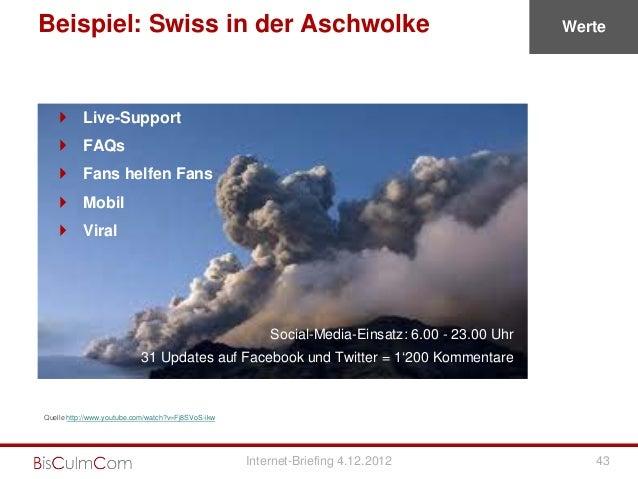 Beispiel: Swiss in der Aschwolke                                                                 Werte     Live-Support  ...