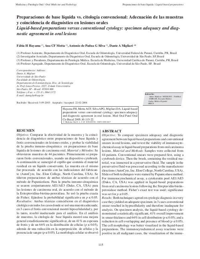 Medicina y Patología Oral / Oral Medicine and Pathology                                                Preparaciones de ba...