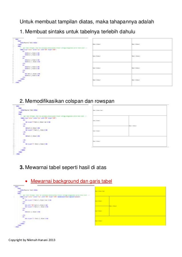 04 color background html dan css for Table w3schools