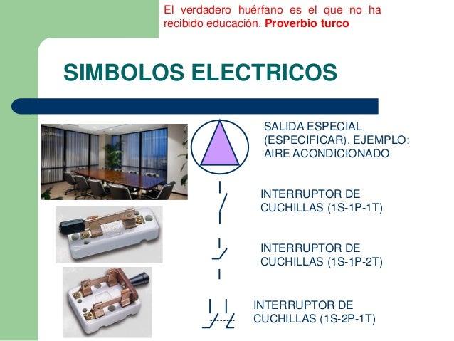Simbolos electricos utilizados en una ier for Salida aire acondicionado