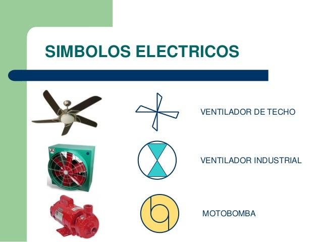 Simbolos electricos utilizados en una ier - Lampara con ventilador de techo ...