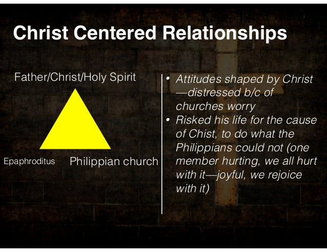 relationships of a christ centered person Problem-centered counseling is typically a one-to-one relationship  ask that  person to come alongside, minister the life of christ, speak forth.