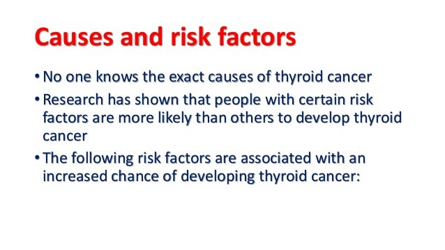 Image result for There Are Thyroid Cancer Risk Factors