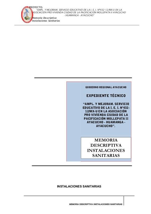 """PROYECTO. """"AMPL. Y MEJORAM. SERVICIO EDUCATIVO DE LA I. E. I. Nº432-12/MX-U EN LA ASOCIACIÓN PRO VIVIENDA CIUDAD DE LA PAC..."""