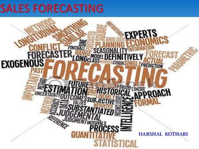 SALES FORECASTING HARSHAL KOTHARI