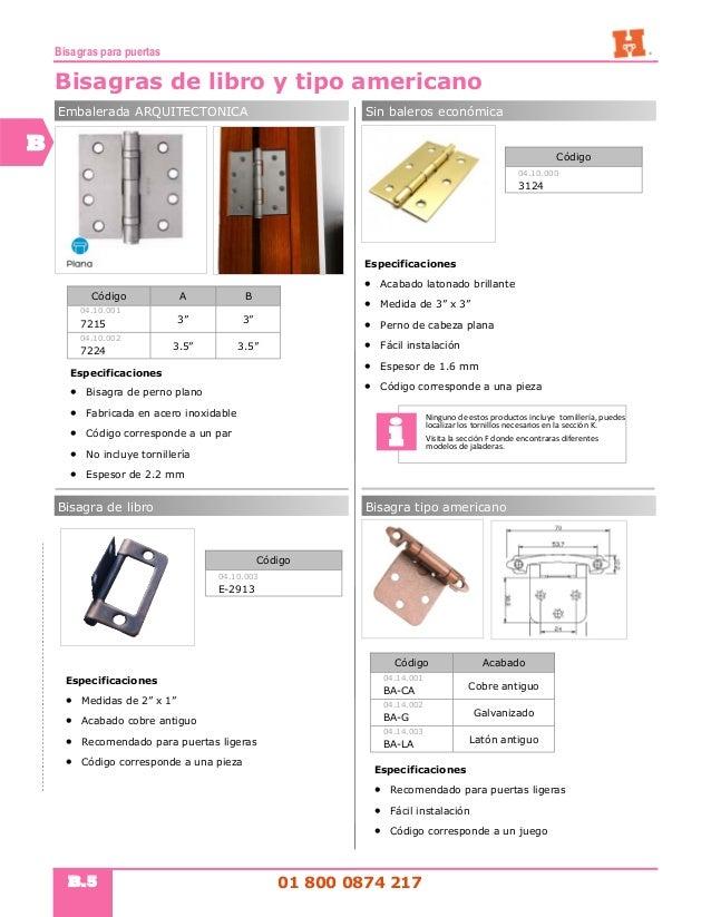 Seccion b bisagras para puertas - Tipos de bisagras ...
