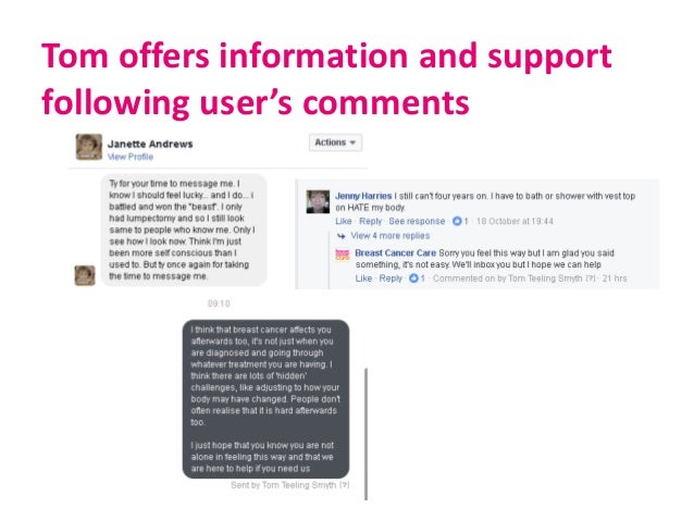 Tom offers information and support following user's comments