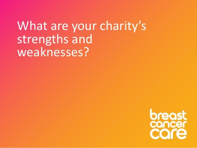 What are your charity's strengths and weaknesses?