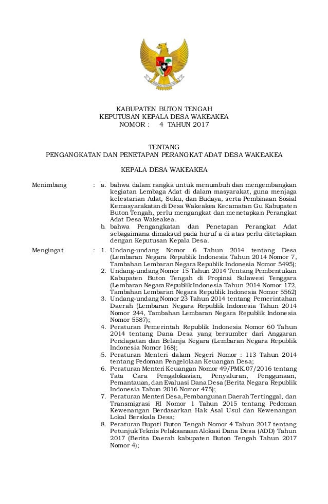 Contoh Surat Keputusan Pengangkatan Jabatan Organisasi ...