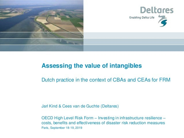 Assessing the value of intangibles Dutch practice in the context of CBAs and CEAs for FRM Jarl Kind & Cees van de Guchte (...