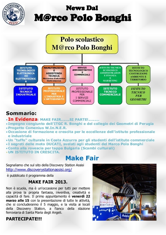 News Dal                   M@rco Polo Bonghi                                  Polo scolastico                             ...