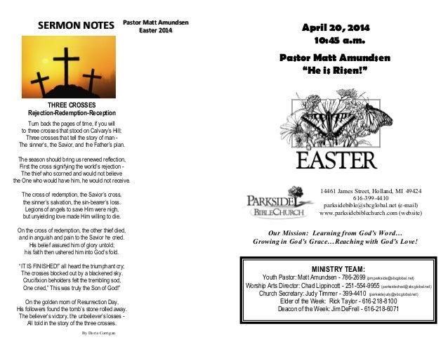MINISTRY TEAM: Youth Pastor: Matt Amundsen - 786-2699 (pmparkside@sbcglobal.net) Worship Arts Director: Chad Lippincott - ...