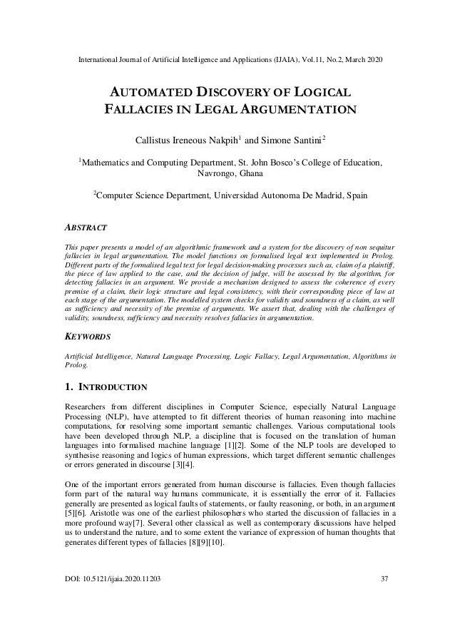 International Journal of Artificial Intelligence and Applications (IJAIA), Vol.11, No.2, March 2020 DOI: 10.5121/ijaia.202...