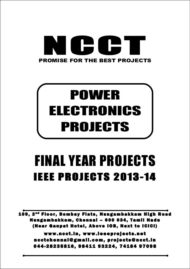 NCCT Smarter way to do your Projects 04 4 - 2 82 3 58 1 6 , 98 4 11 9 3 22 4 7 4 18 4 97 0 98 ncctchennai@gmail.com POWER ...