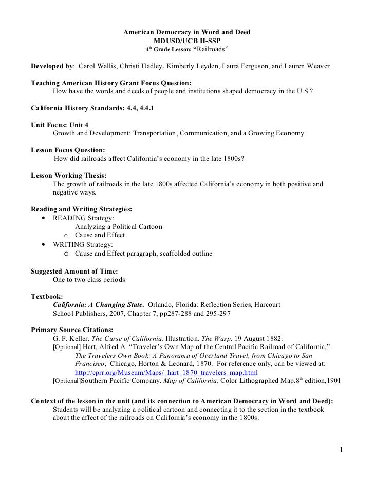 American Democracy in Word and Deed                                        MDUSD/UCB H-SSP                                ...