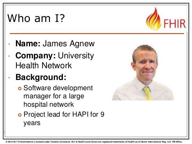 FHIR API for Java programmers by James Agnew Slide 2