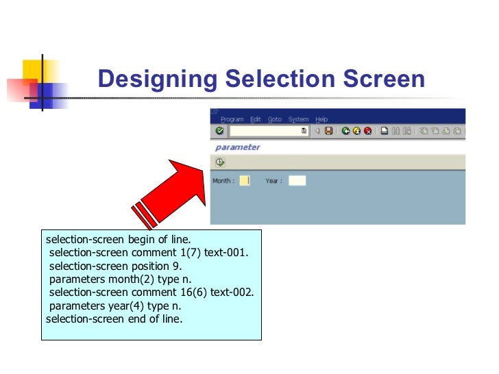 ABAP Event-driven Programming &Selection Screen