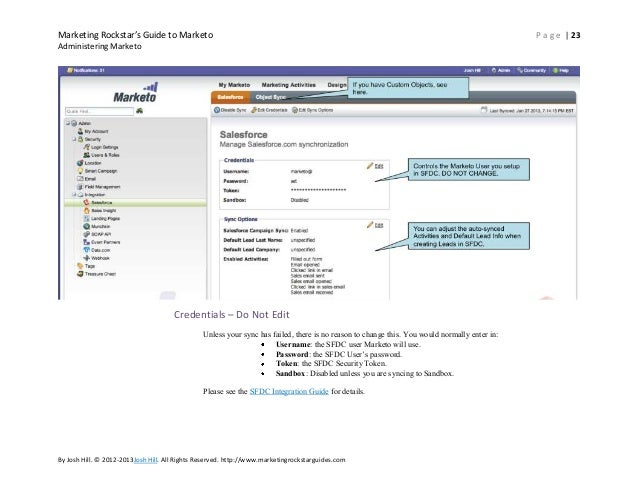 marketo salesforce integration instructions