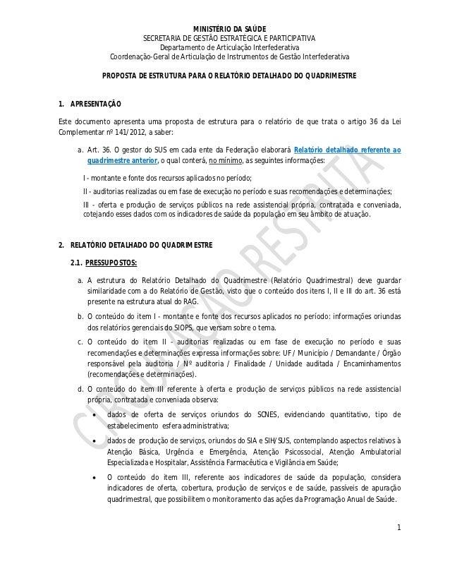 MINISTÉRIO DA SAÚDE                        SECRETARIA DE GESTÃO ESTRATÉGICA E PARTICIPATIVA                             De...