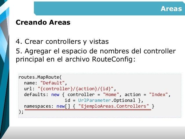 ASP NET MVC - areas, manejo de estado