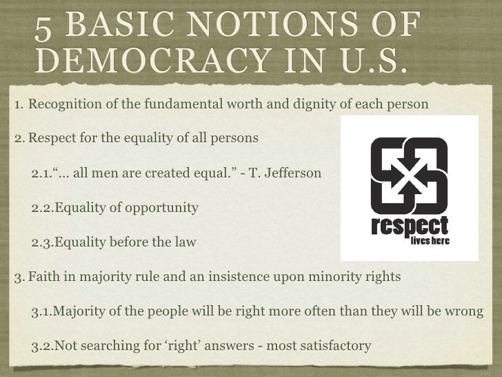 5 basic concepts of democracy essay Can there be an islamic democracy review essay this basic foundation of democracy and instead draws that islamic democracy rests upon concepts of.