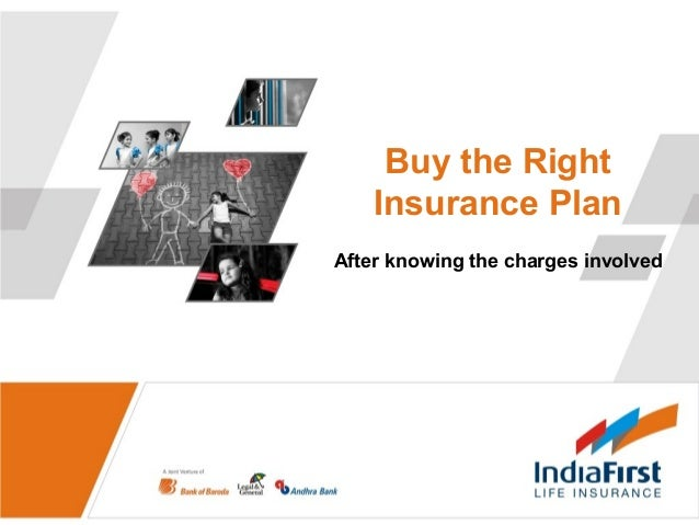 Buy the Right Insurance Plan After knowing the charges involved