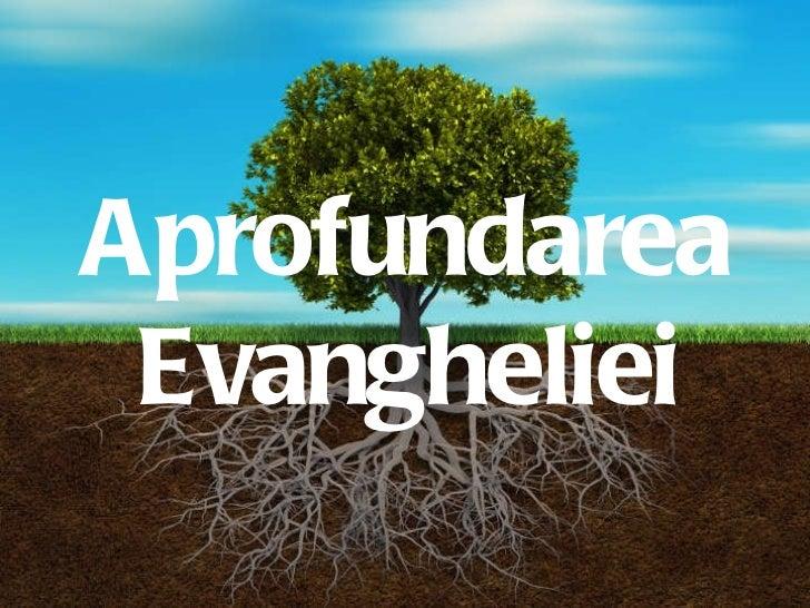 Growing Deep Aprofundarea Evangheliei
