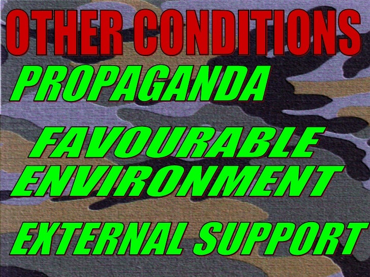 OTHER CONDITIONS PROPAGANDA FAVOURABLE ENVIRONMENT EXTERNAL SUPPORT