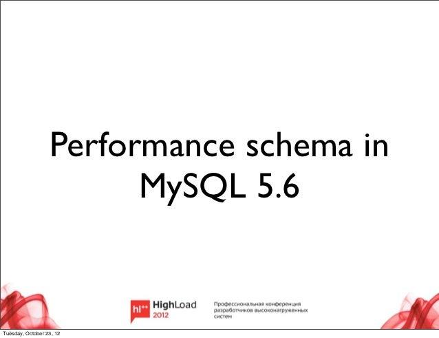 Performance Schema in MySQL (Danil Zburivsky)
