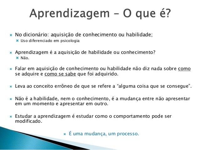 Definição de aprendizagem Slide 3