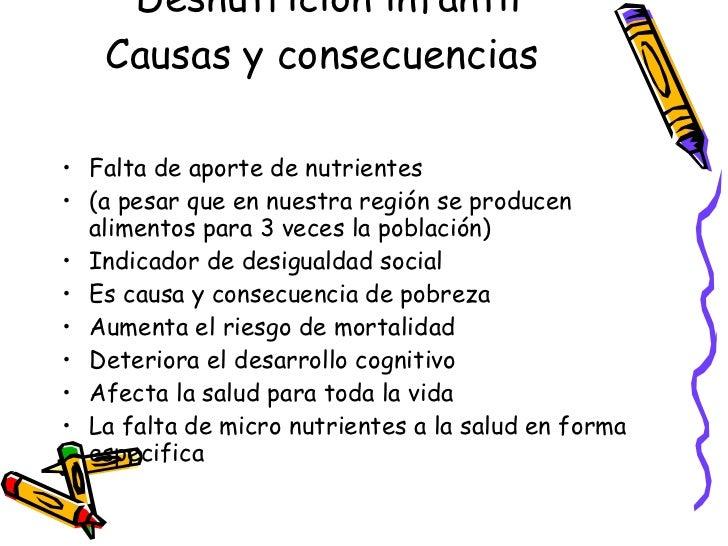 Causas y consecuencias de la desnutricion