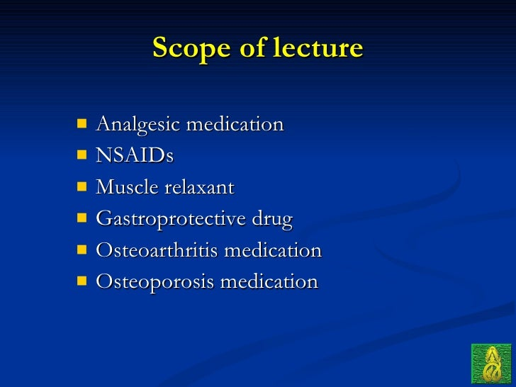 ortho 04 drugs in orthopaedic (principle & common use)