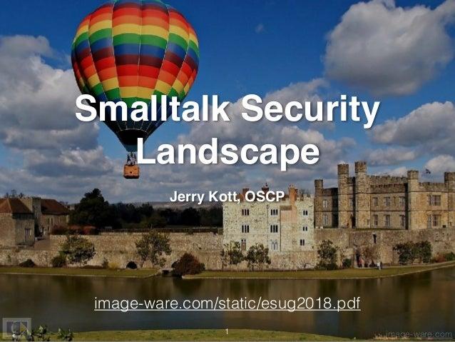 Smalltalk Security Landscape