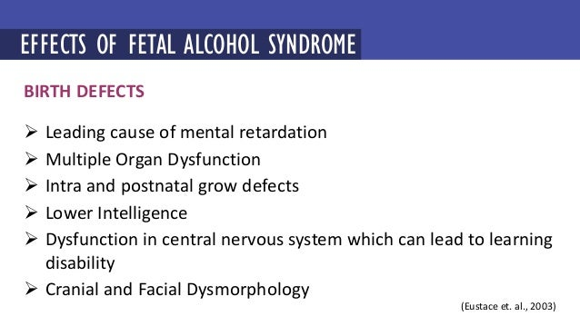 an introduction to the issue of fetal alcohol syndrome Fetal alcohol spectrum disorder (fasd) is a group of developmental disorders that results from the exposure of a fetus to alcohol fasd includes, fetal alcohol syndrome (fas), partial fas, alcohol-related neurodevelopmental disorder (arnd), and alcohol-related birth defects (arbd.