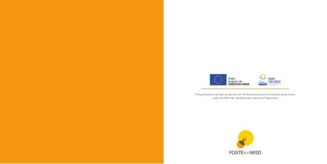This publication has been produced with the financial assistance of the European Union under the ENPI CBC Mediterranean Se...