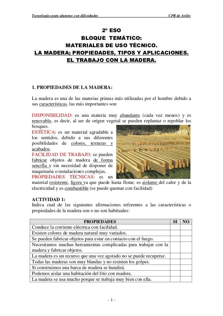 Tecnologías para alumnos con dificultades                               CPR de Avilés                    2º ESO           ...