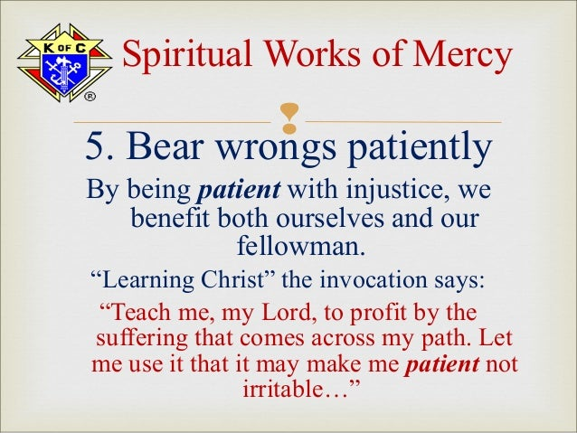 The call of christians handouts |Spiritual Works Of Mercy Comfort The Sorrowful