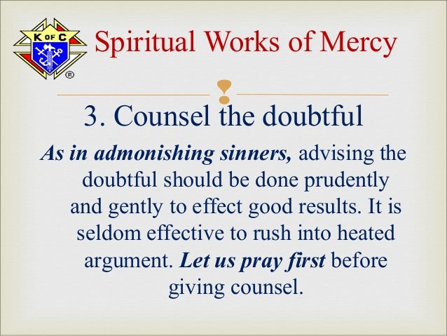 Catholic All Year: Maybe We CAN'T Talk About NFP Without ... |Spiritual Works Of Mercy Comfort The Sorrowful