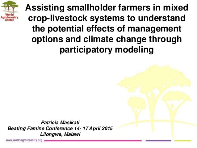 Assisting smallholder farmers in mixed crop-livestock systems to understand the potential effects of management options an...