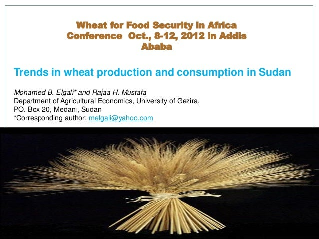 Wheat for Food Security in Africa                Conference Oct., 8-12, 2012 in Addis                              AbabaTr...