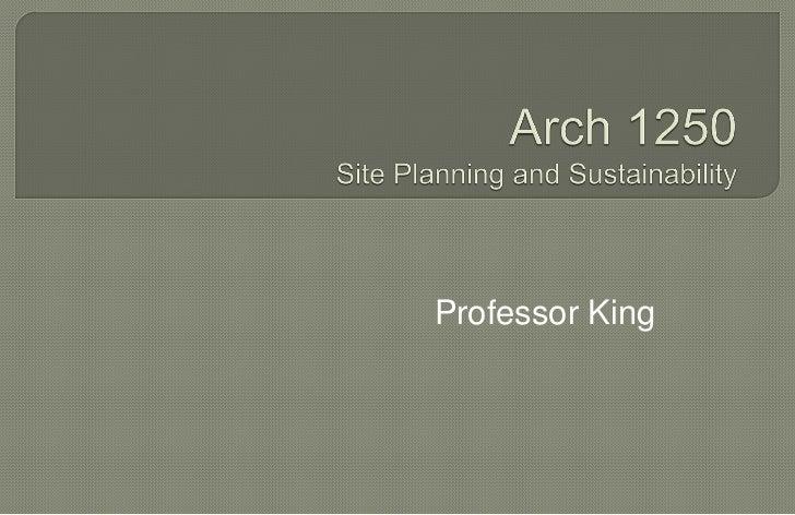Professor King