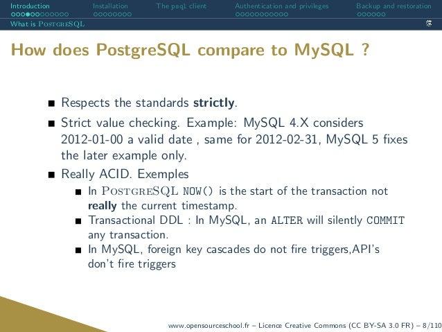 PostgreSQL : Introduction