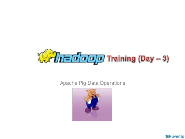 Apache Pig Data Operations